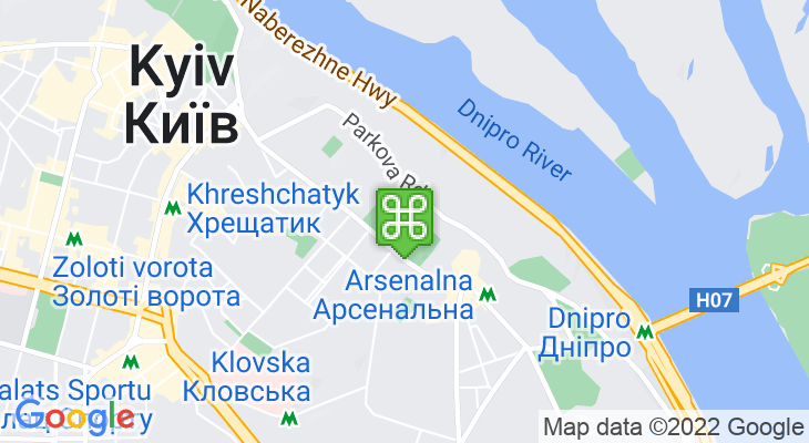 Map showing location of Mariinsky Park