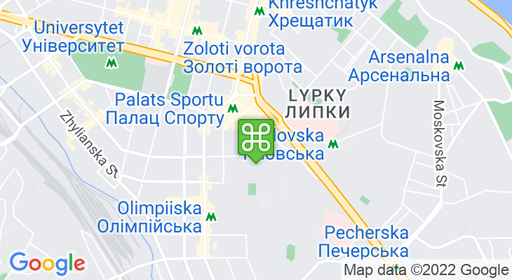 Map showing location of Palace of Sports