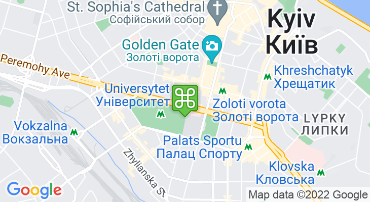 Map showing location of St Volodymyr's Cathedral
