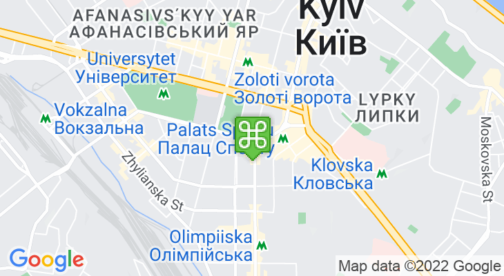 Map showing location of Ploshcha Lva Tolstoho Metro Station