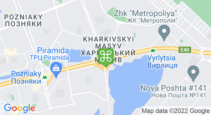 Map showing location of Kharkivska Metro Station