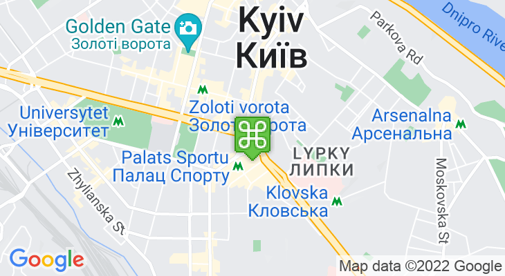 Map showing location of Pinchuk Art Centre