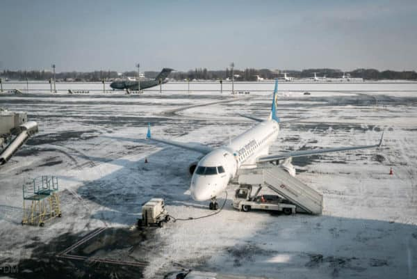 Plane at Boryspil International Airport, Kiev, Ukraine