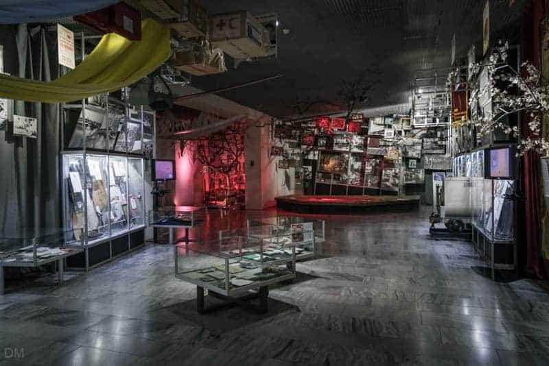 Exhibition room at the Ukrainian National Chernobyl Museum in Kiev.