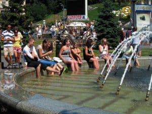 Public holiday in Kiev, Ukraine