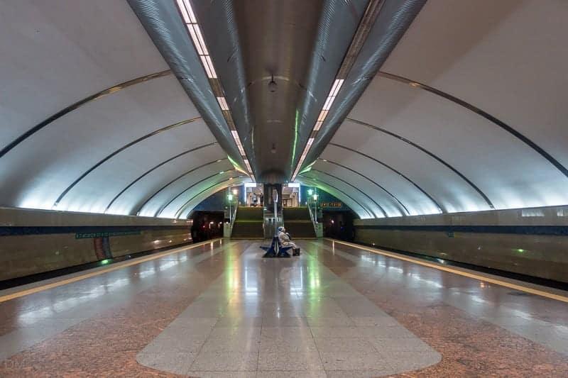 Boryspilska Metro Station, Kiev, Ukraine