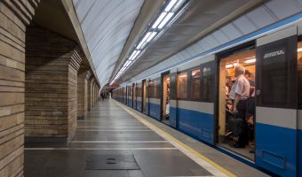 Druzhby Narodiv Metro Station, Kiev, Ukraine