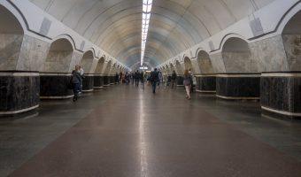 Lukianivska Metro Station, Kiev, Ukraine