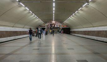 Zhytomyrska Metro Station in Kiev, Ukraine