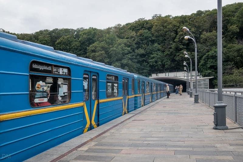 Dnipro Metro Station, Kiev, Ukraine
