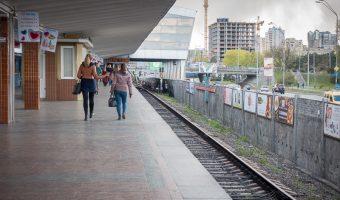 Darnytsia Metro Station, Kiev, Ukraine