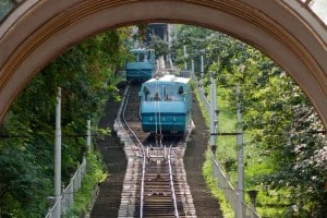 Funicular Railway in Kiev, Ukraine