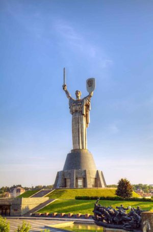 The Motherland Monument or Rodina Mat in Kiev, Ukraine