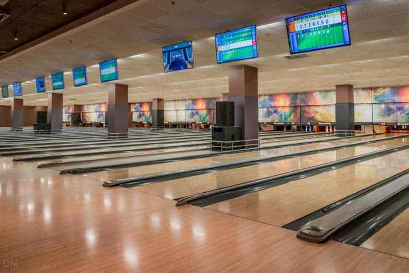 Bowling lanes at Gulliver Bowling in Kiev, Ukraine
