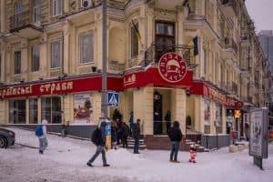 Puzata Hata Ukrainian restaurant on Baseina in Kiev, Ukraine