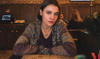 Ukrainian girl in Solomenskaya Brewery, Kiev, Ukraine