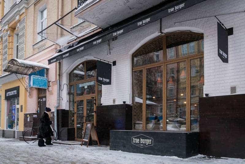 True Burger Bar, Bohdana Khmelnytskogo Street, Kiev, Ukraine