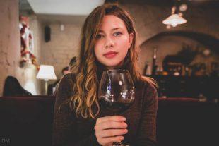 Girl in Under Wonder restaurant Kiev, Ukraine