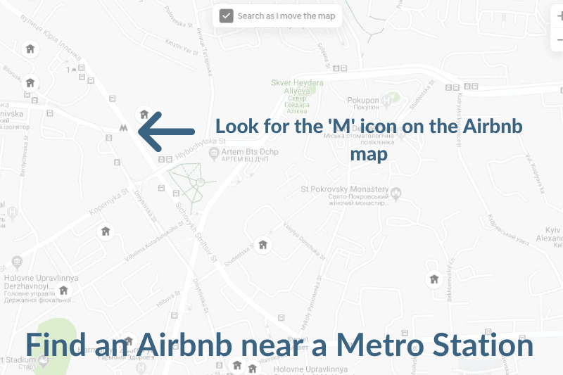 How to find an Airbnb in Kiev near a Metro station